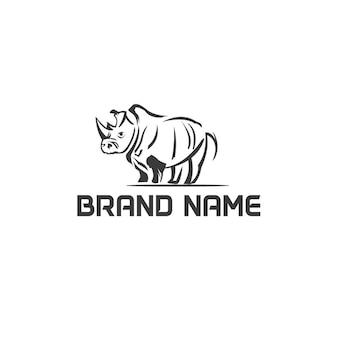 Abstraktes nashorn-logo