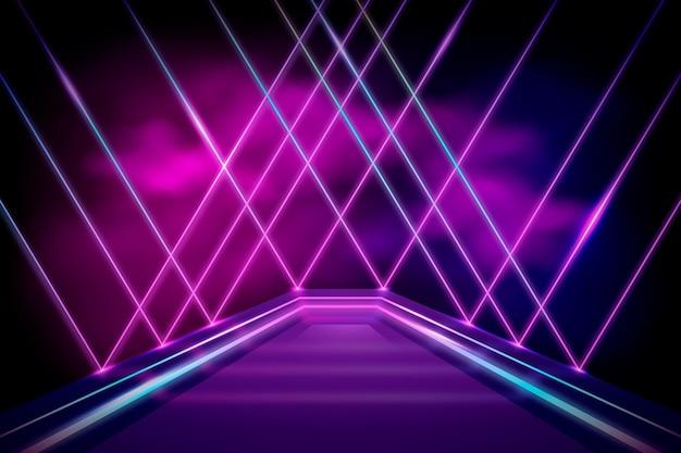 Abstraktes neonhintergrunddesign