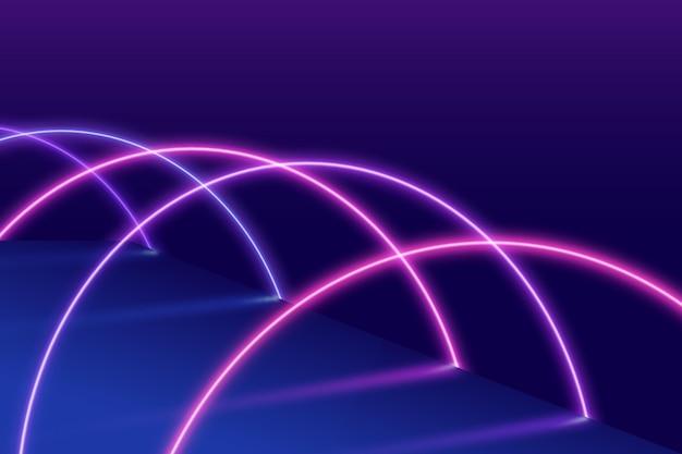 Abstraktes neonlicht-tapetendesign