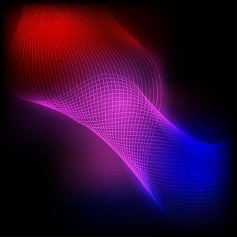 Abstraktes neonwellenelement für auslegung.