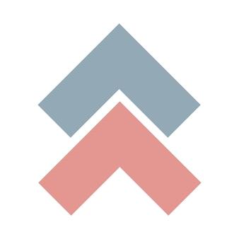 Abstraktes nordisches geometrisches design für dekorationsinnenraum, druckplakate, grußkarte, geschäftsbanner, verpackung im modernen skandinavischen stil in vektor