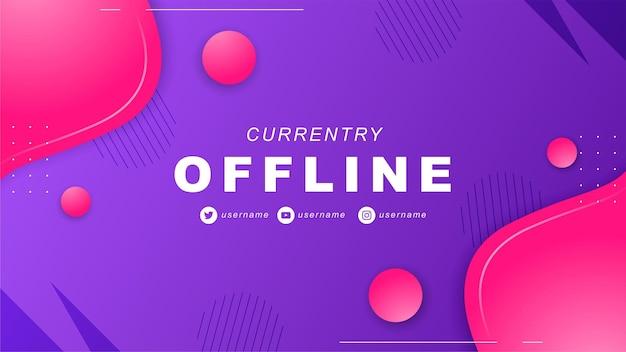 Abstraktes offline-twitch-banner im gamer-stil 3