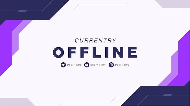 Abstraktes offline-twitch-banner im gamer-stil 4