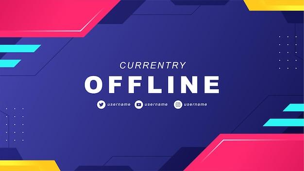 Abstraktes offline-twitch-banner im gamer-stil 5