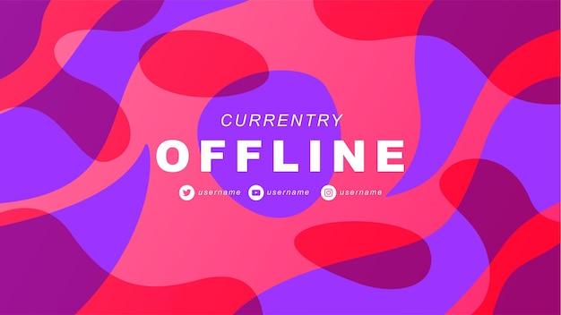 Abstraktes offline-twitch-banner im gamer-stil 6