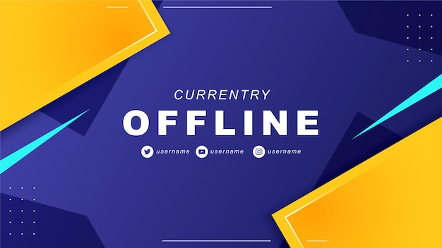 Abstraktes offline-twitch-banner im gamer-stil 7