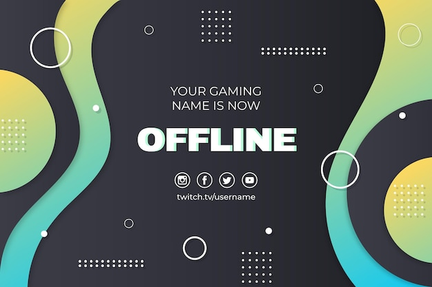 Abstraktes offline zuckendes banner im memphis-stil