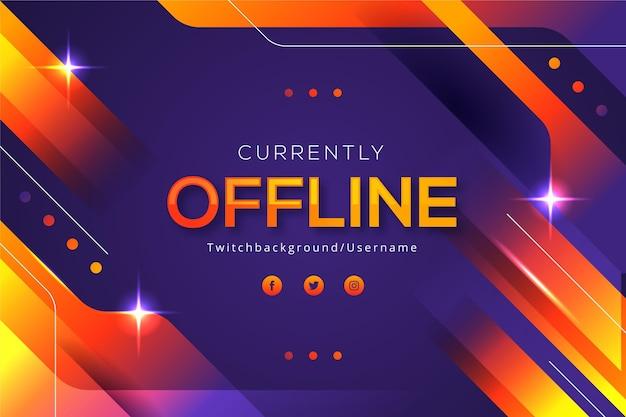 Abstraktes offline zuckendes banner