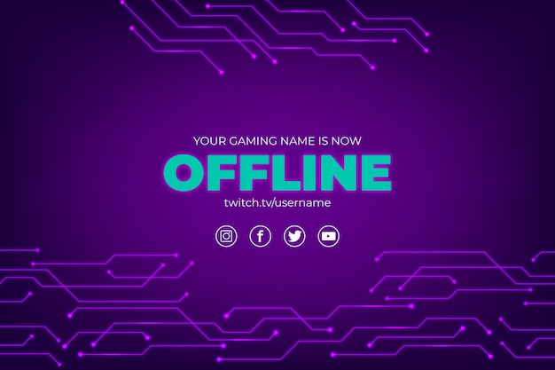 Abstraktes offline zuckendes bannerthema