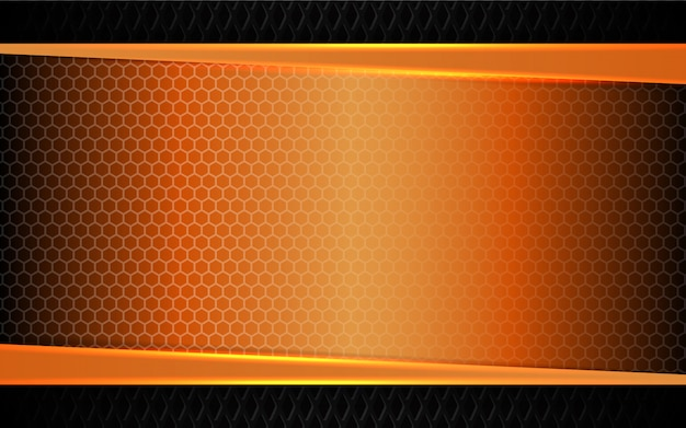 Abstraktes orange metall formt hintergrund