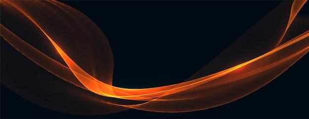 Abstraktes orangefarbenes wellenhintergrunddesign
