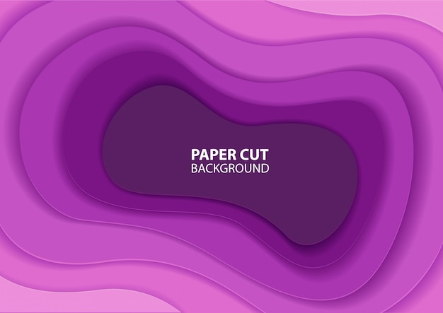 Abstraktes papier geschnitten hintergrund