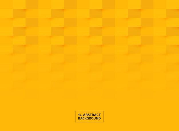 Abstraktes papierschnitt-musterdesign im klaren gelben farbhintergrund.