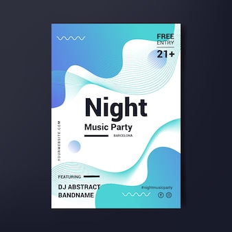 Abstraktes partyplakat