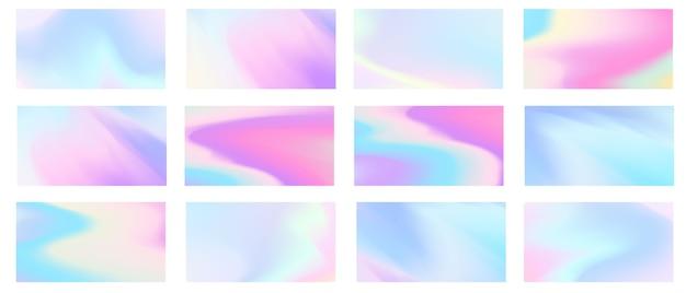 Abstraktes pastell stellte gradientenhintergrund ein