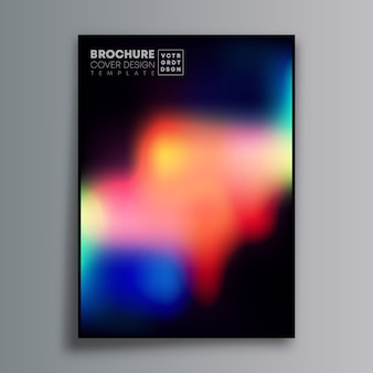 Abstraktes plakatdesign mit bunter steigung für tapete, flieger, plakat, broschürenabdeckung, typografie