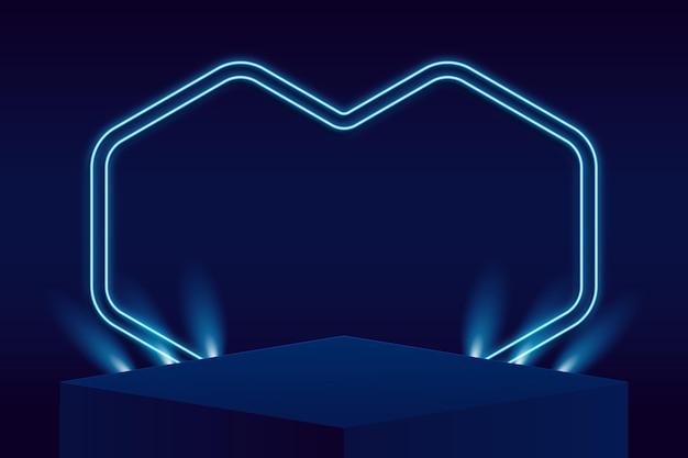 Abstraktes podium mit lichtern