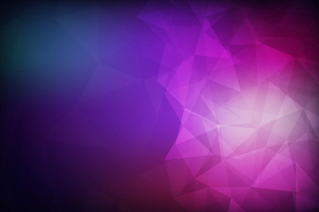 Abstraktes polygon-muster. vector hintergrund design mit farbverlauf