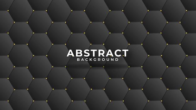 Abstraktes polygonales muster der lederstruktur luxus dunkelblau mit gold