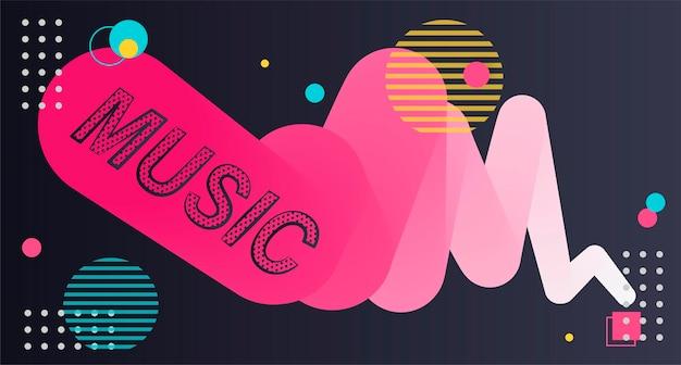 Abstraktes poster-banner abstrakte hintergrundtextur collage musik label