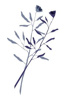 Abstraktes poster mit pflanzenblumenblatt abstrakte illustration mit blättern und kreisen