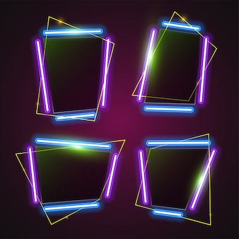 Abstraktes purpurrotes neonfahnendesign