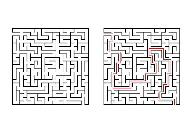 Abstraktes quadratisches labyrinth.