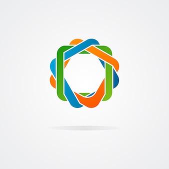Abstraktes rätsel-logo