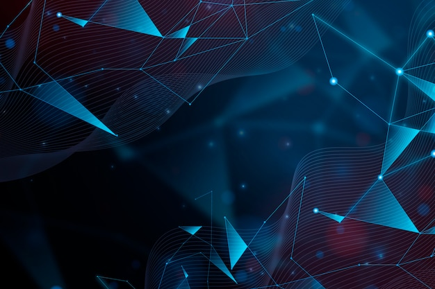 Abstraktes realistisches technologiepartikel-hintergrunddesign