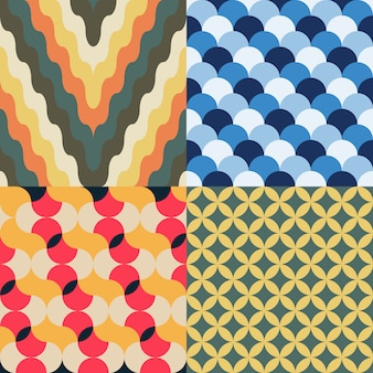 Abstraktes retro geometrisches muster