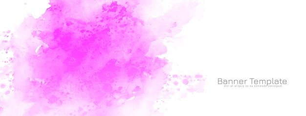 Abstraktes rosa aquarelldesign-banner