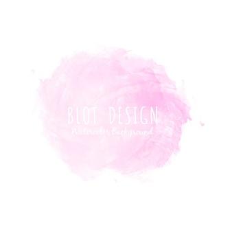 Abstraktes rosa aquarellfleckdesign