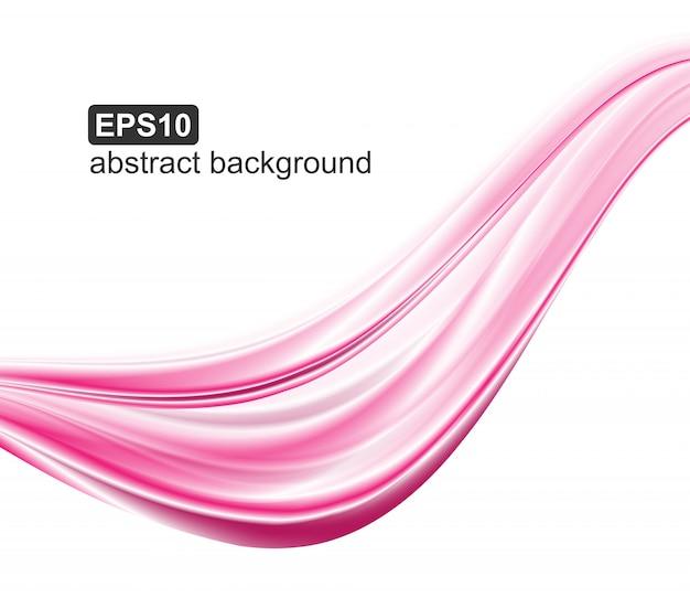Abstraktes rosa bewegt hintergrund wellenartig.