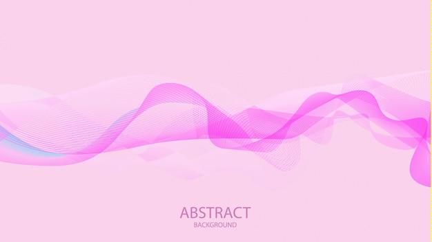 Abstraktes rosa bewegt stilvolles hintergrunddesign wellenartig