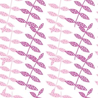 Abstraktes rosa nahtloses mit blumenmuster. botanik textur. moderne naturtapete. dekorative verzierung. design für stoff, textildruck, verpackung, abdeckung. vektor-illustration.