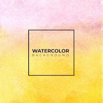 Abstraktes rosa und orange aquarell auf weißem hintergrund. die farbe spritzt auf das papier. es ist eine hand gezeichnet.