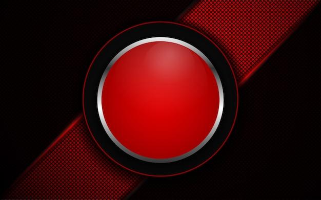 Abstraktes rotes licht auf dunklem hintergrund