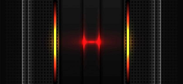 Abstraktes rotes licht und grau des technologiehintergrundes
