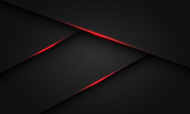 Abstraktes rotes lichtschattendreieck dunkles metallisches design moderner futuristischer luxushintergrundvektor