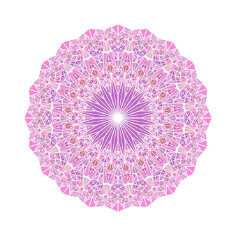 Abstraktes rundes geometrisches mosaikdreieckmuster-mandala