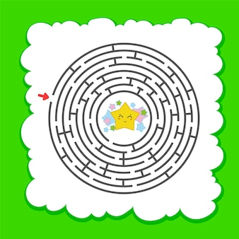 Abstraktes rundes labyrinth.