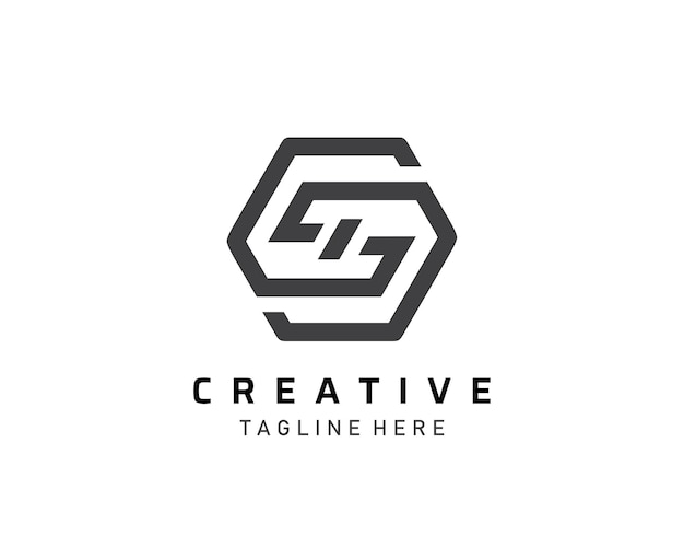 Abstraktes s, g, gd-buchstaben-symbol-logo-design