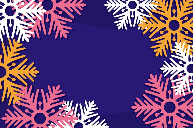Abstraktes schneeflockengruß-kartendesign