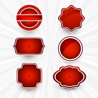 Abstraktes schönes rotes lables gesetztes design