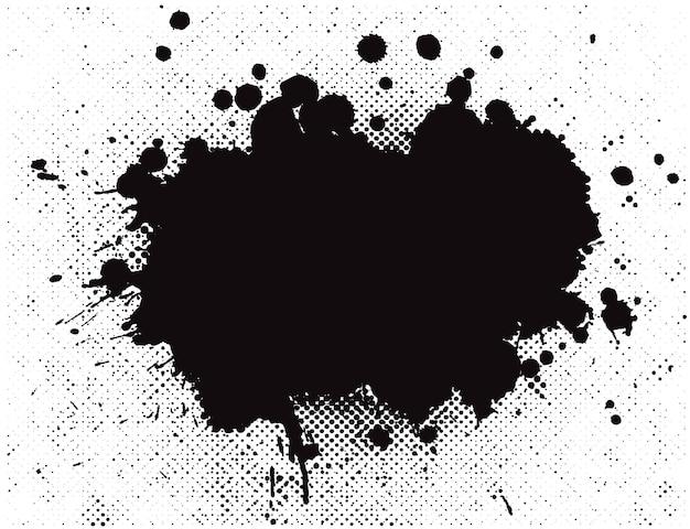 Abstraktes schwarz spritzt hintergrund