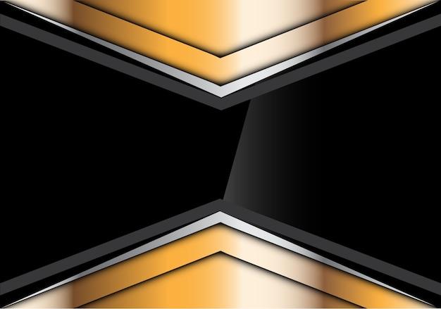 Abstraktes schwarzes glattes im goldsilberpfeil