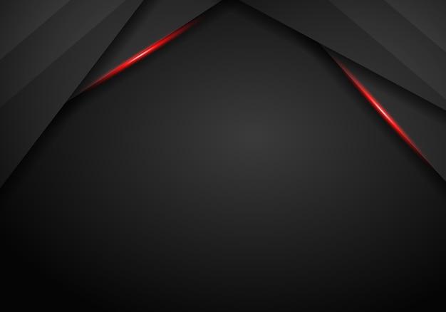 Abstraktes schwarzes mit roter rahmenschablone