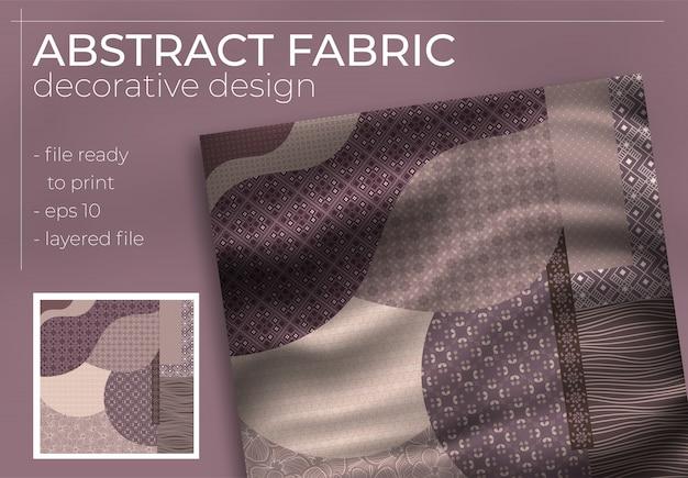 Abstraktes seidenschal-design im quadrat für hijab-druck, seidenhalsschal oder kopftuch usw.