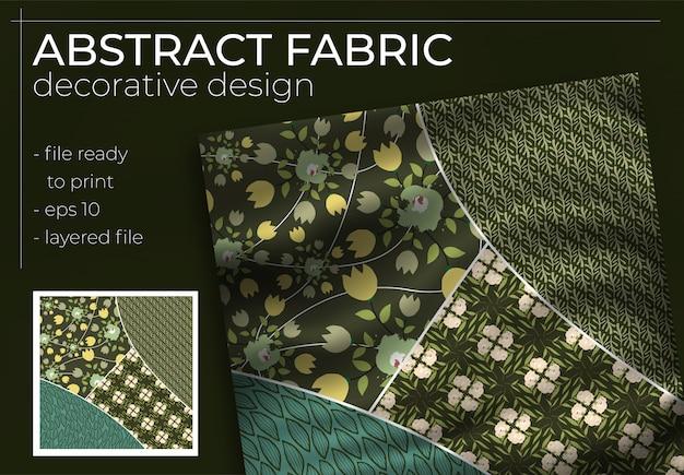 Abstraktes seidenschal-design im quadrat für hijab-druck, seidenhalsschal oder kopftuch
