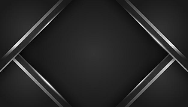 Abstraktes silbernes licht auf dunklem luxushintergrund